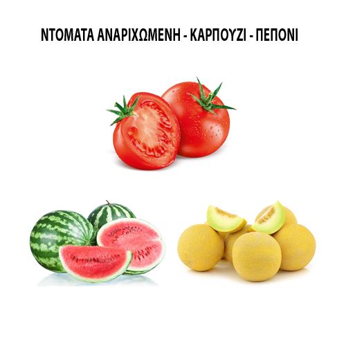 Ντομάτα αναρριχώμενη - Καρπούζι - Πεπόνι