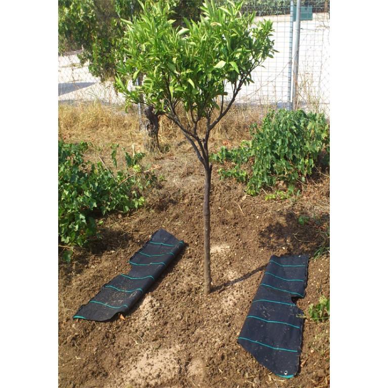 116cm διάμετρος | 2 φερμουάρ για δέντρα, αμπέλια και φυτά (ύφασμα στρογγυλό εδαφοκάλυψης κωδ. 90006)