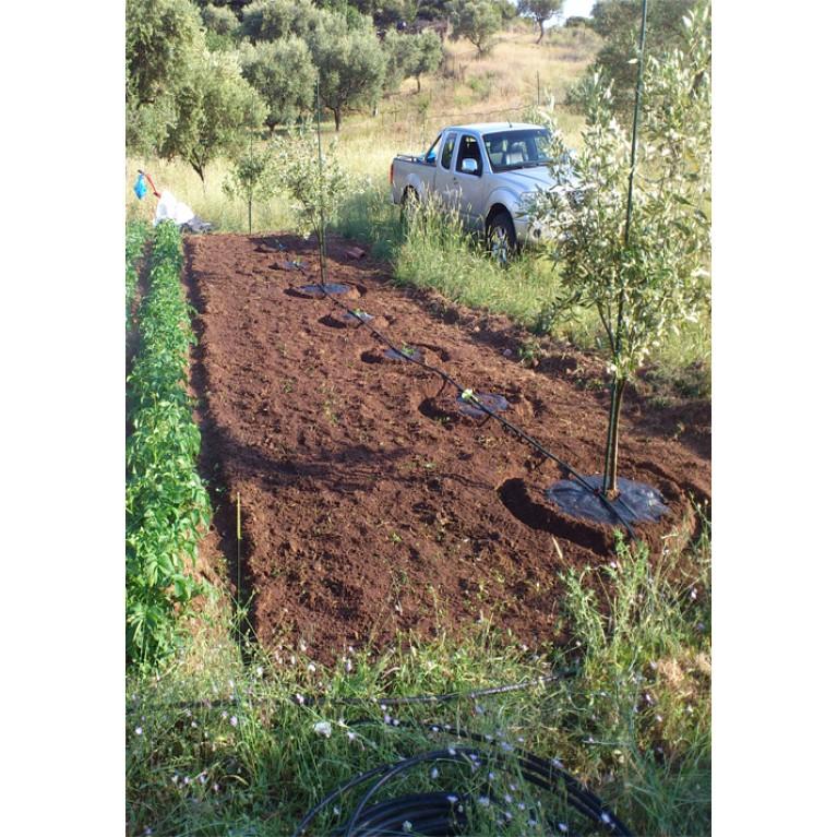 60cm διάμετρος | 2 φερμουάρ για δέντρα, αμπέλια και φυτά (ύφασμα στρογγυλό εδαφοκάλυψης κωδ. 90001)