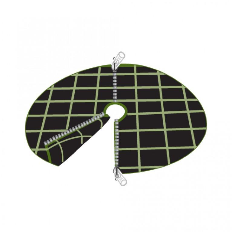 Ύφασμα εδαφοκάλυψης στρογγυλό 97cm διάμετρος, με 2 φερμουάρ - κωδικός: 90005