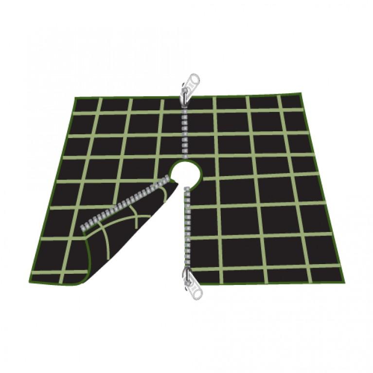 Ύφασμα εδαφοκάλυψης τετράγωνο 70cm x 70cm, με 2 φερμουάρ - κωδικός: 90102