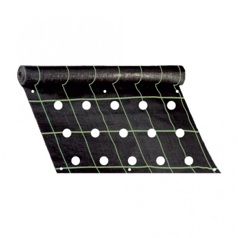 100cm x 490cm | 96 οπές για αντίδι, μαρούλι, σαλάτα, σταμναγκάθι (ύφασμα εδαφοκάλυψης κωδ. 90354)